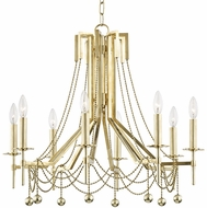 Hudson Valley 5228-AGB Zariah Modern Aged Brass 27.5  Chandelier Lamp