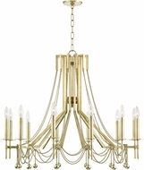 Hudson Valley 5236-AGB Zariah Modern Aged Brass 36  Ceiling Chandelier