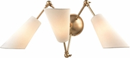 Hudson Valley 5300-AGB Buckingham Contemporary Aged Brass Lamp Sconce