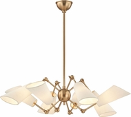Hudson Valley 5308-AGB Buckingham Modern Aged Brass Hanging Chandelier