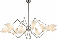 Hudson Valley 5312-PN Buckingham Contemporary Polished Nickel Chandelier Light
