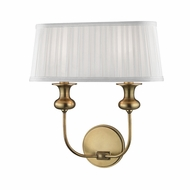 Hudson Valley 5402-AGB Pembroke Aged Brass Wall Lighting Fixture