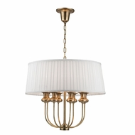 Hudson Valley 5408-AGB Pembroke Aged Brass Pendant Lighting