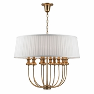 Hudson Valley 5412-AGB Pembroke Aged Brass Pendant Lamp