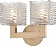 Hudson Valley 5442-AGB Sagamore Modern Aged Brass LED 2-Light Bathroom Light
