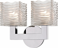 Hudson Valley 5442-PC Sagamore Contemporary Polished Chrome LED 2-Light Bathroom Lighting Fixture