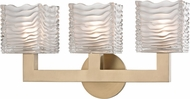 Hudson Valley 5443-AGB Sagamore Contemporary Aged Brass LED 3-Light Vanity Light