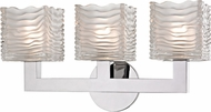 Hudson Valley 5443-PC Sagamore Modern Polished Chrome LED 3-Light Bath Light Fixture
