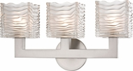 Hudson Valley 5443-SN Sagamore Contemporary Satin Nickel LED 3-Light Bath Lighting Fixture