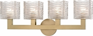 Hudson Valley 5444-AGB Sagamore Modern Aged Brass LED 4-Light Bathroom Light Fixture