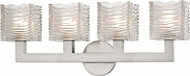 Hudson Valley 5444-SN Sagamore Modern Satin Nickel LED 4-Light Bathroom Vanity Light