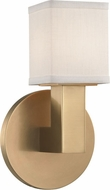 Hudson Valley 5451-AGB Clarke Contemporary Aged Brass LED Sconce Lighting