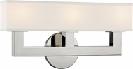 Hudson Valley 5453-PN Clarke Modern Polished Nickel LED 3-Light Vanity Lighting Fixture
