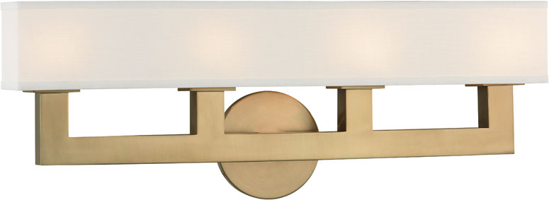 Hudson Valley 5454-AGB Clarke Contemporary Aged Brass LED