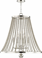 Hudson Valley 5726-PN Spool Contemporary Polished Nickel 26.5 Entryway Light Fixture