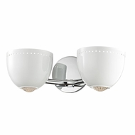 Hudson Valley 5812-WPC Emmett Modern White/Polished Chrome Xenon Wall Light Sconce