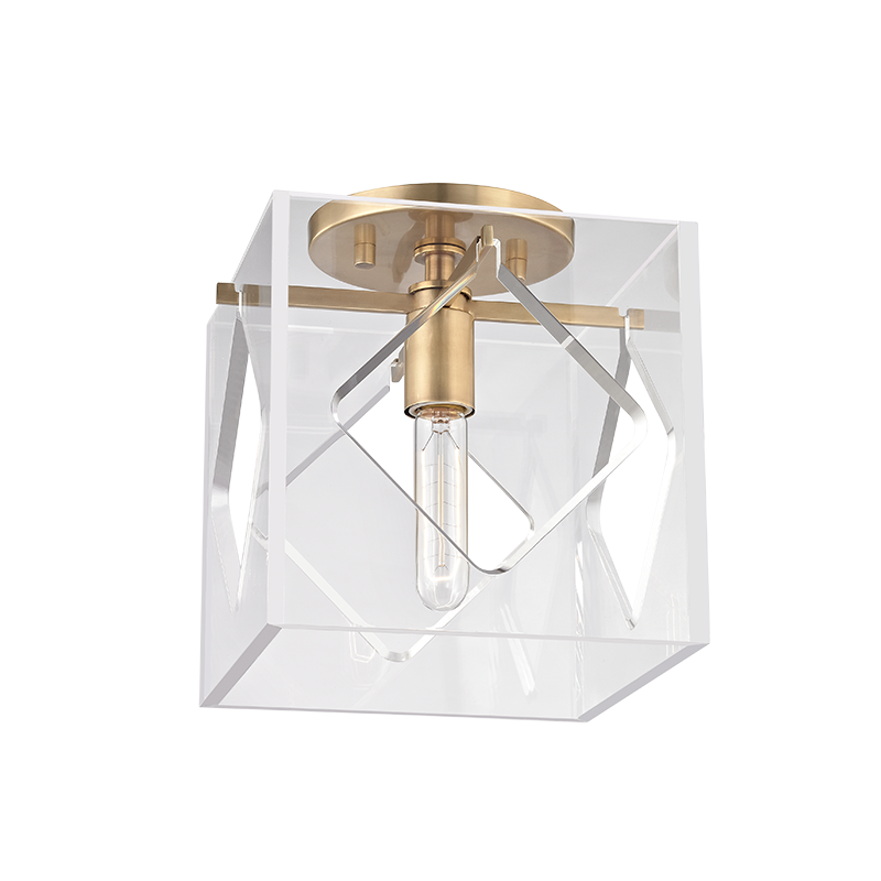 Hudson Valley 5909f Agb Travis Modern Aged Brass Ceiling Light Fixture Loading Zoom