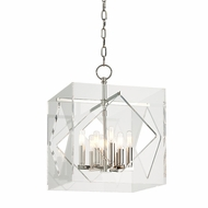 Hudson Valley 5916-PN Travis Modern Polished Nickel Finish 16  Wide Pendant Lighting Fixture
