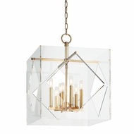 Hudson Valley 5920-AGB Travis Contemporary Aged Brass Finish 26.5  Tall Hanging Pendant Lighting