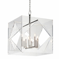 Hudson Valley 5924-PN Travis Modern Polished Nickel Finish 24  Wide Hanging Light Fixture