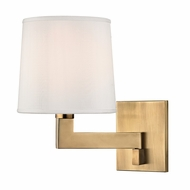 Hudson Valley 5931-AGB Fairport Aged Brass Finish 11.25  Tall Sconce Lighting