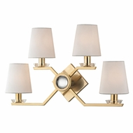 Hudson Valley 5940-AGB Baker Contemporary Aged Brass Wall Lighting Fixture