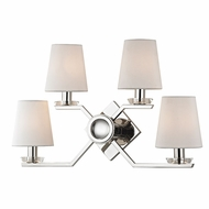 Hudson Valley 5940-PN Baker Modern Polished Nickel Wall Light Sconce