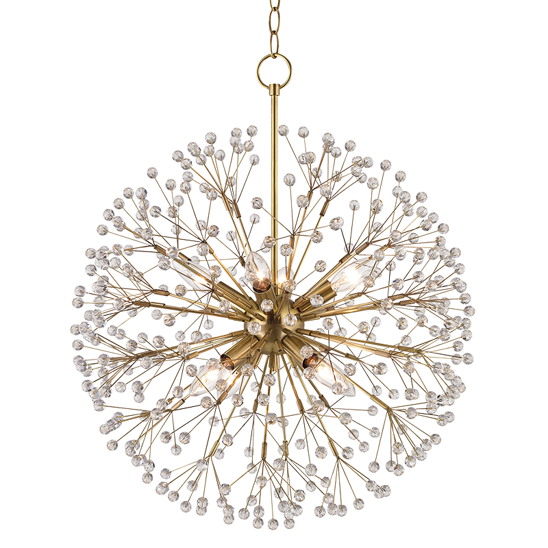 Hudson Valley 6020 Agb Dunkirk Aged Brass Mini Hanging