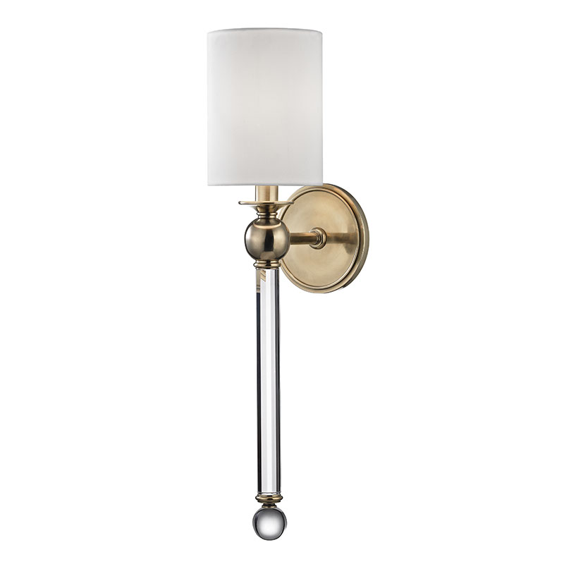 Hudson Valley 6031 AGB Gordon Aged Brass Wall Sconce Light. Loading Zoom
