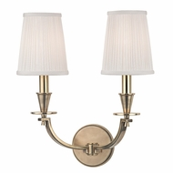 Hudson Valley 6212-AGB Avalon Aged Brass Finish 14  Wide Sconce Lighting