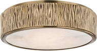 Hudson Valley 6213-AGB Crispin Aged Brass LED Flush Lighting