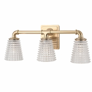 Hudson Valley 6223-AGB Westbrook Modern Aged Brass Xenon 3-Light Bath Lighting
