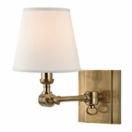 Hudson Valley 6231-AGB Hillsdale Vintage Aged Brass Finish 6  Wide Wall Sconce Lighting