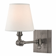 Hudson Valley 6231-HN Hillsdale Retro Historic Nickel Finish 10  Tall Wall Light Fixture