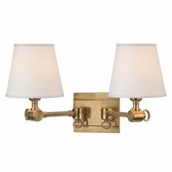 Hudson Valley 6232-AGB Hillsdale Vintage Aged Brass Finish 18  Wide Wall Sconce Lighting