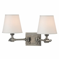 Hudson Valley 6232-HN Hillsdale Retro Historic Nickel Finish 9.5  Tall Wall Mounted Lamp