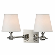 Hudson Valley 6232-PN Hillsdale Retro Polished Nickel Finish 9.5  Tall Wall Lighting Fixture