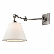 Hudson Valley 6233-HN Hillsdale Retro Historic Nickel Finish 12.75  Tall Wall Lamp