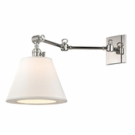 Hudson Valley 6233-PN Hillsdale Retro Polished Nickel Finish 12.75  Tall Wall Arm Lamp