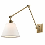 Hudson Valley 6234-AGB Hillsdale Vintage Aged Brass Finish 10  Wide Swing Wall Lighting