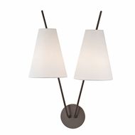 Hudson Valley 6322-OB Milan Contemporary Old Bronze Wall Lighting Sconce