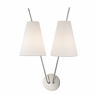Hudson Valley 6322-PN Milan Modern Polished Nickel Wall Sconce Lighting