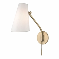 Hudson Valley 6341-AGB Patten Contemporary Aged Brass Wall Swing Arm Lamp