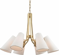 Hudson Valley 6346-AGB Patten Aged Brass Chandelier Light