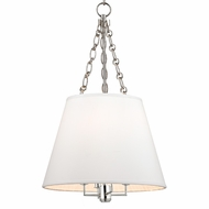 Hudson Valley 6415-PN Burdett Polished Nickel Finish 15  Wide Ceiling Light Pendant