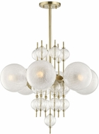 Hudson Valley 6427-AGB Calypso Modern Aged Brass Chandelier Light
