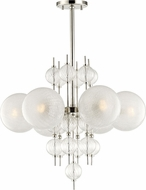 Hudson Valley 6427-PN Calypso Contemporary Polished Nickel Chandelier Lighting