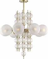 Hudson Valley 6433-AGB Calypso Modern Aged Brass Lighting Chandelier