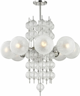 Hudson Valley 6433-PN Calypso Contemporary Polished Nickel Chandelier Lamp