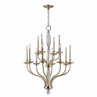 Hudson Valley 6434-AGB Lauderhill Aged Brass Hanging Chandelier
